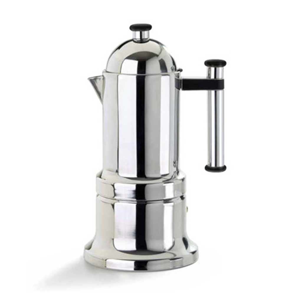 Vev Vigano Kontessa Italian Coffee Maker Silver