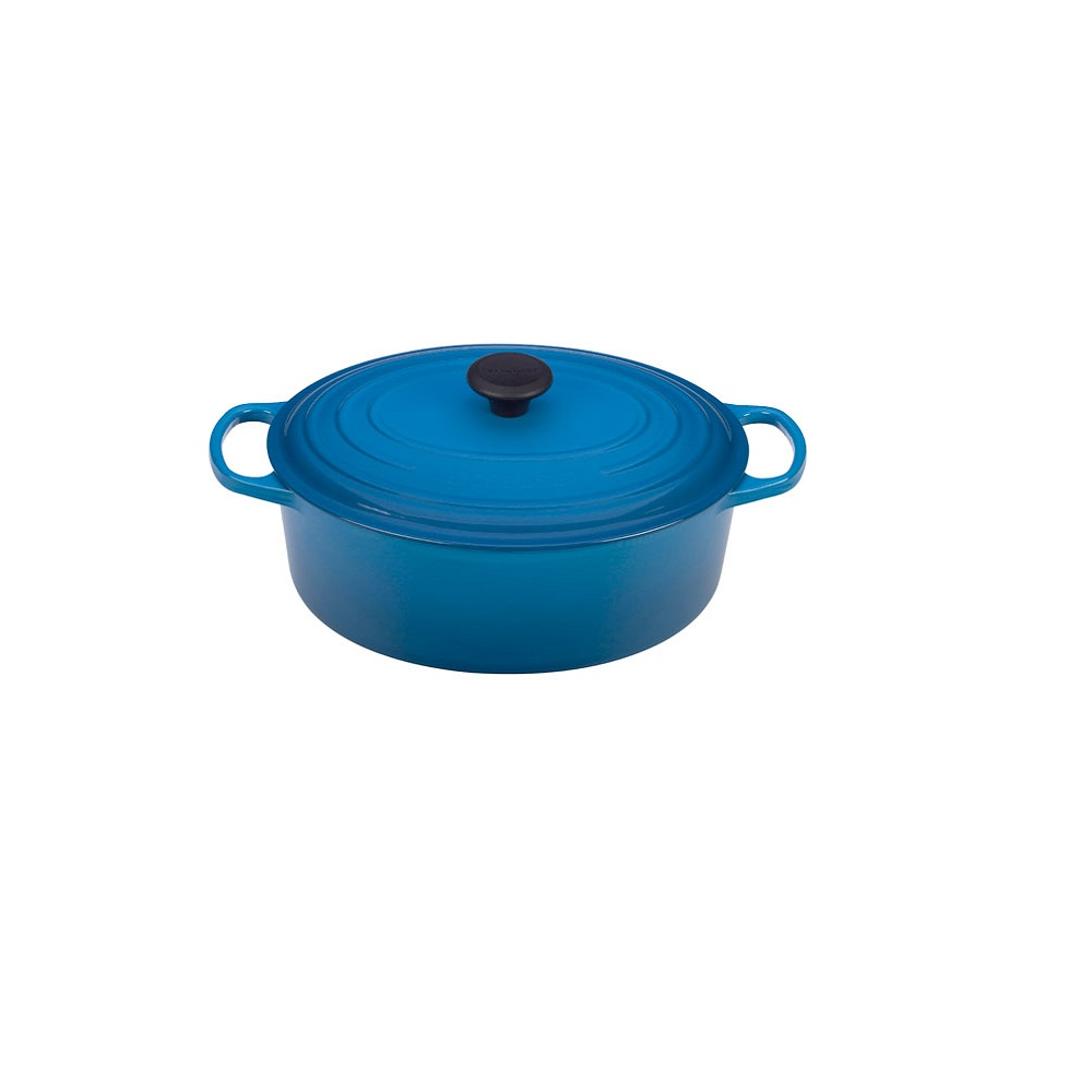 le creuset cocotte ovale en fonte maill e 27 cm 4 1l pour la cuisson quincaillerie dante. Black Bedroom Furniture Sets. Home Design Ideas