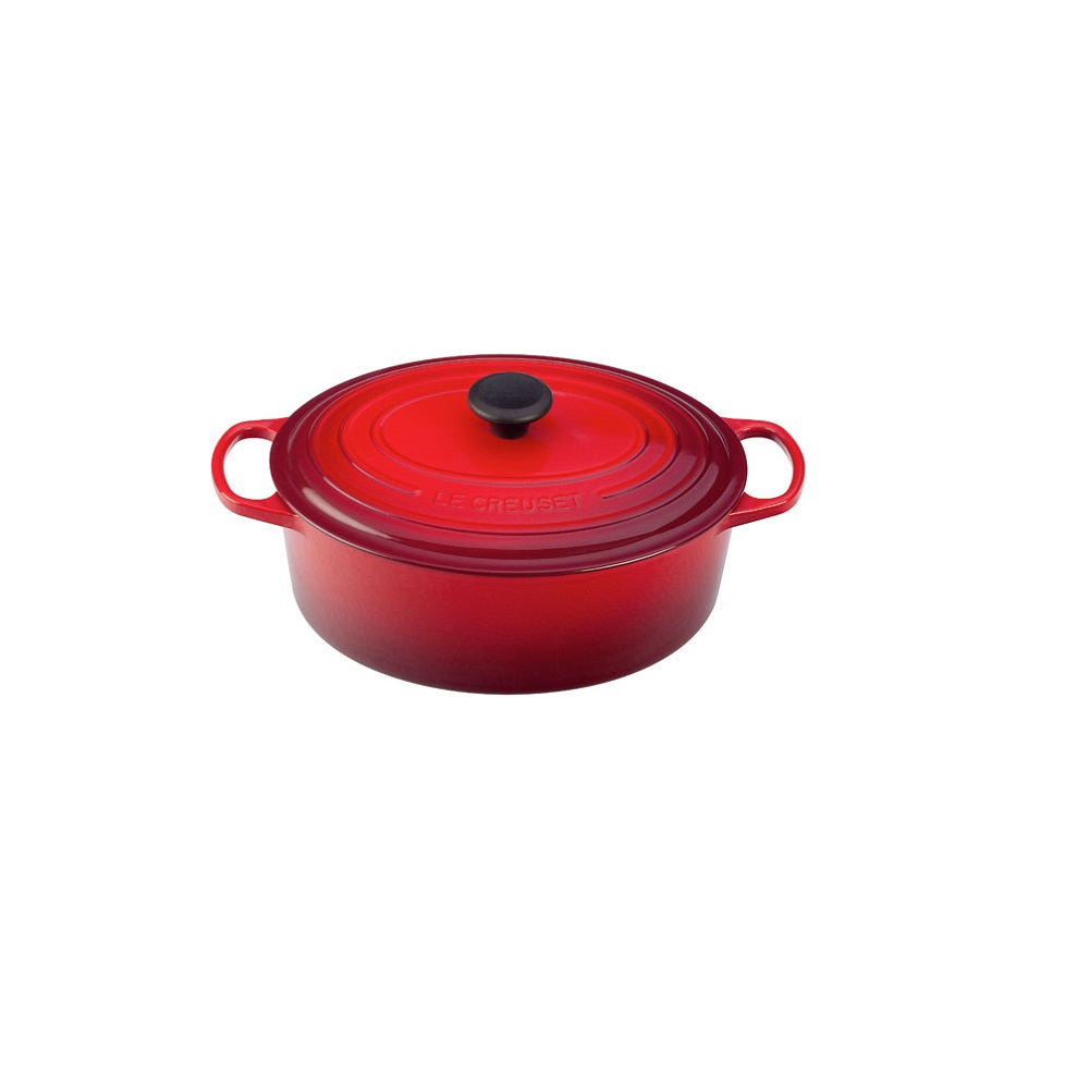 le creuset cocotte ovale en fonte maill e 35cm 9l pour la cuisson quincaillerie dante. Black Bedroom Furniture Sets. Home Design Ideas