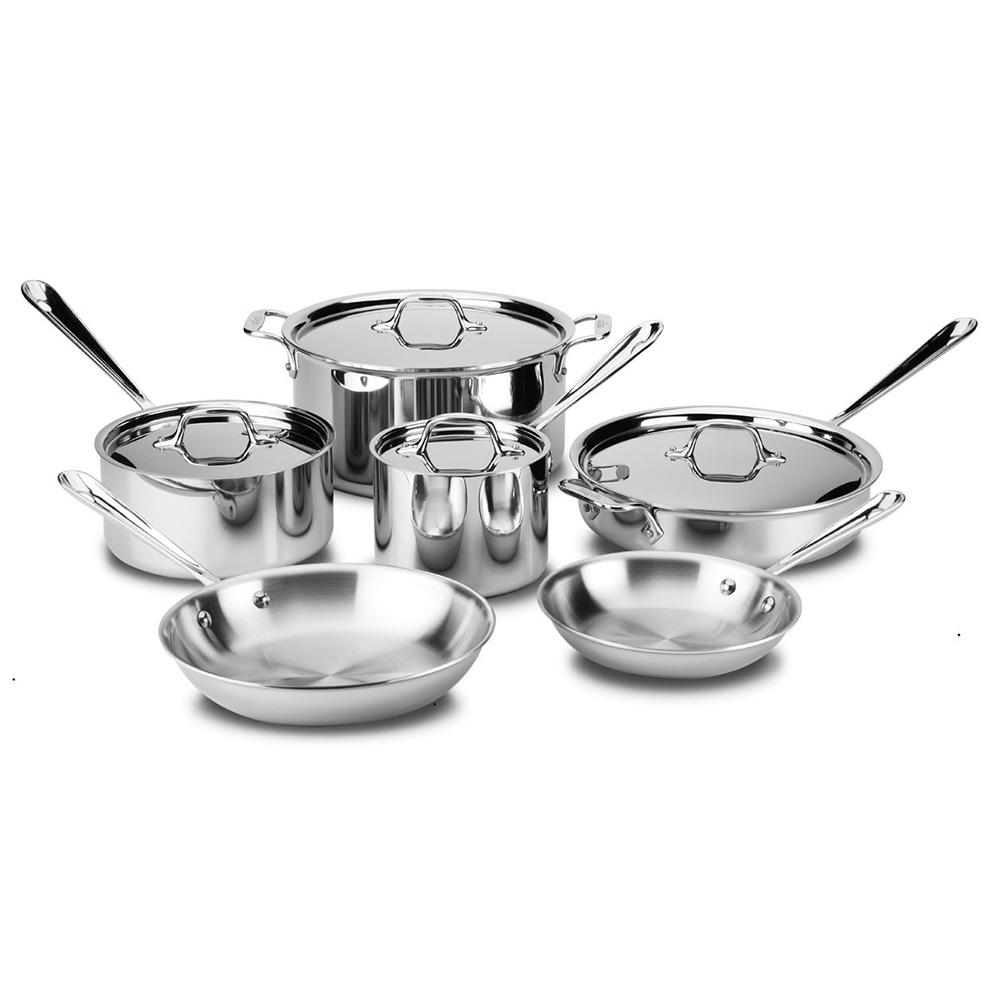 All Clad - D5 Brushed 10 piece Cookware Set